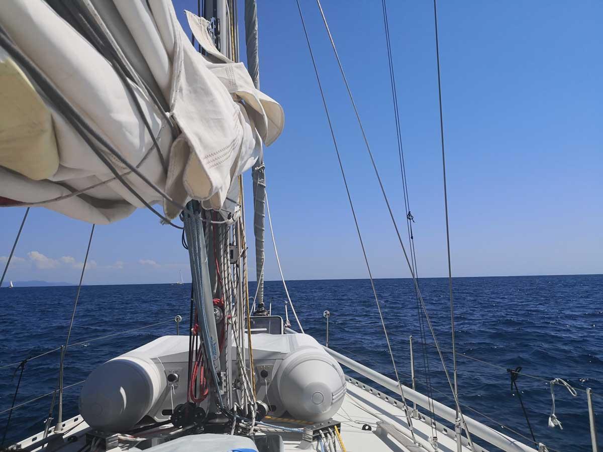 Svolgimento della crociera in barca a vela