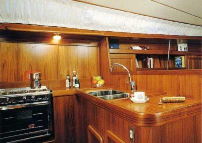 interni della nostra barca a vela Allegra 2