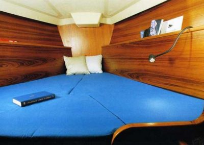 interni della nostra barca a vela Allegra 3
