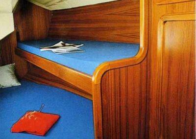 interni della nostra barca a vela Allegra 4